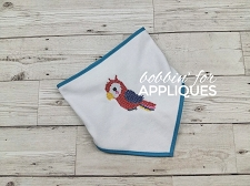 Parrot Cross Stitch Machine Embroidery Pattern